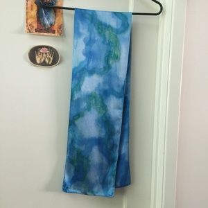 Silk Scarf Hand Dyed Blues & Greens